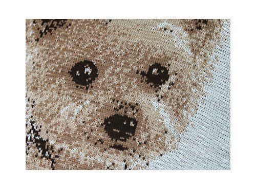 編物で作った犬