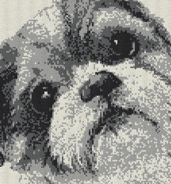 うちの子を編み物で描く
