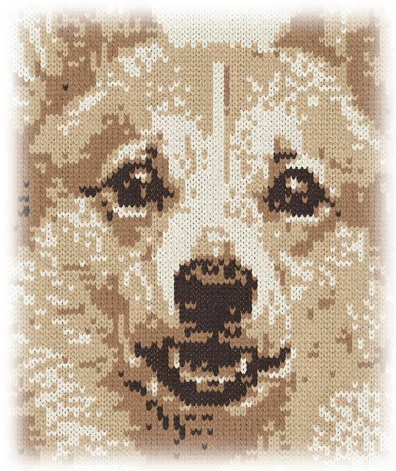 コーギーを編物で表現