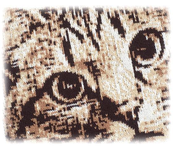 かわいい猫の編物のグッズ