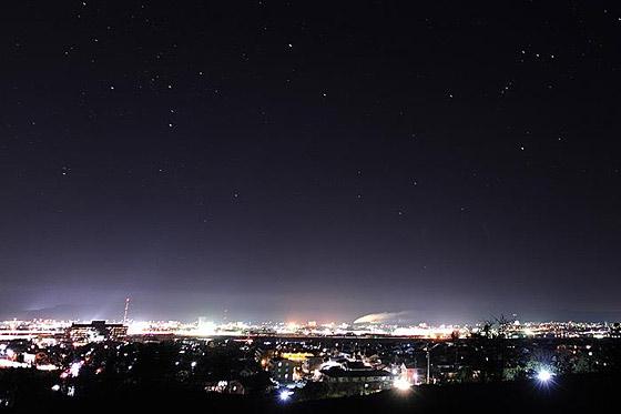 レストランから見る夜景