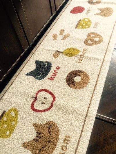 猫柄プレゼントキッチンマット