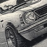 編物で車を描く