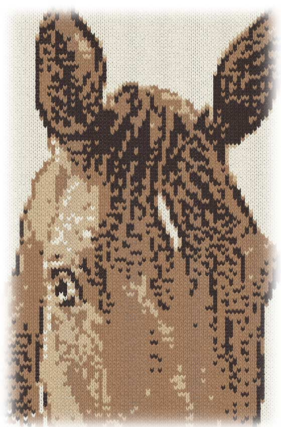 編み物で描く馬