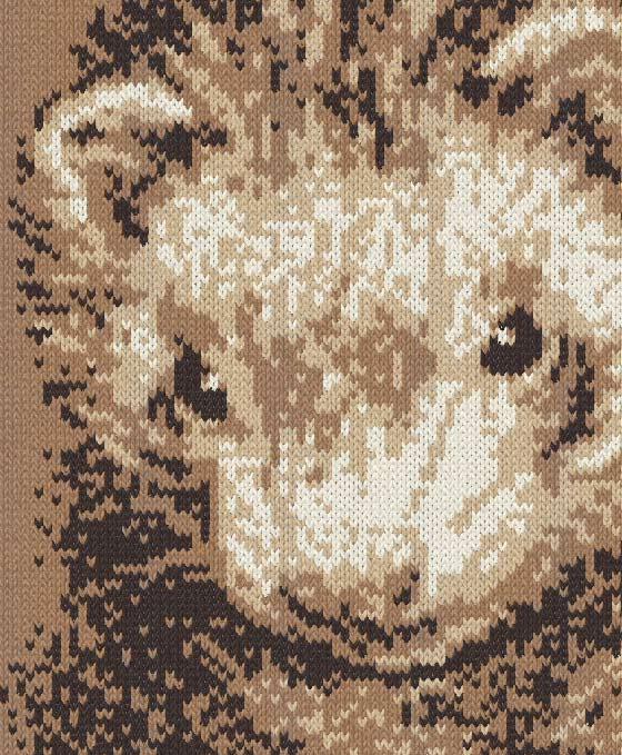 糸で編むフェレット